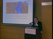 Challenges and Opportunities for the European Security and Defense Policy - Dr. Maria Stromvik November 27, 2009
